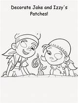 Jake Eye Cake Patty Coloring Pages Patch Pirates Neverland Printable sketch template