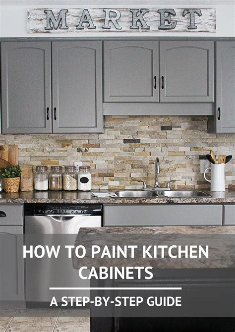 how to paint kitchen cabinets step by step how to paint kitchen cabinets step guide kitchens and house