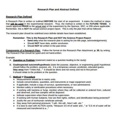 research plan template 11 sle research plan templates sle templates