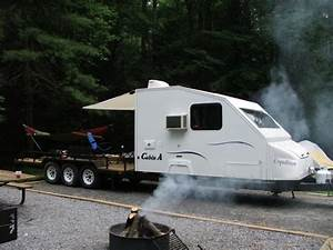 camper on flatbed truck | Lets see your Trailers with ...