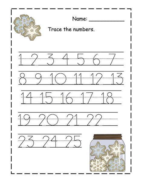 trace numbers 1 100 activity shelter