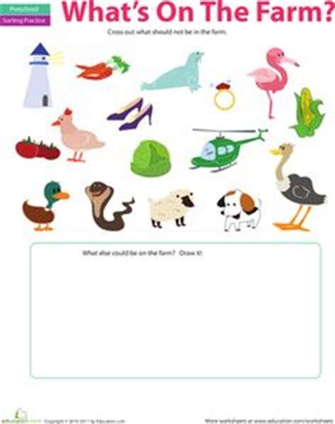 farm animal worksheet  science worksheets