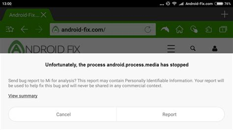 android process media has stopped how to fix quot unfortunately the process android process