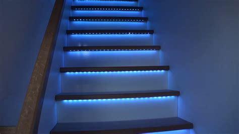 escalier 224 bandeaux de led rgb