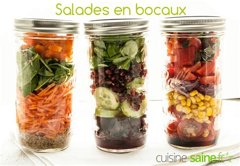 cuisine sans gluten salade en bocal ou salade jar cuisine saine sans