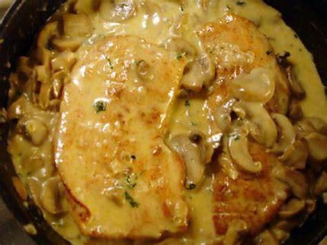 recette de cuisine escalope de dinde recette d 39 escalope de dinde aux chignons de