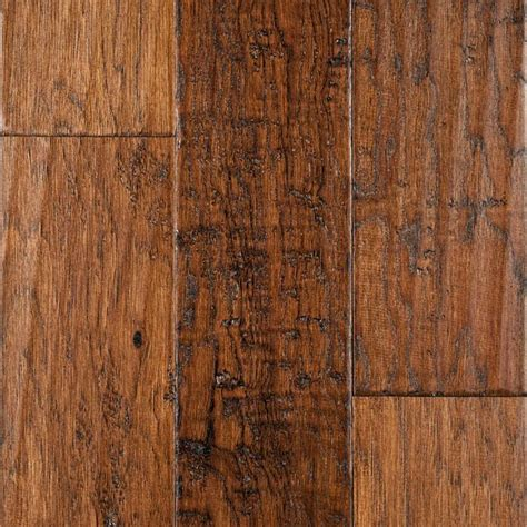 engineered hardwood hickory handscraped product reviews and ratings engineered floating 1 2 quot x 5 quot handscraped hickory cider from