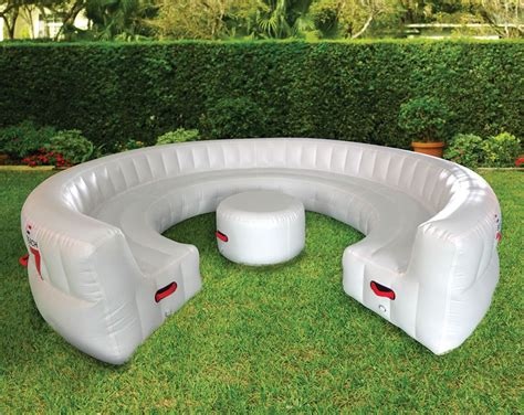 Inflatable sofas can double as beds, too. Massive Inflatable Outdoor Party Sofa - Seats 30 Guests! - The Green Head