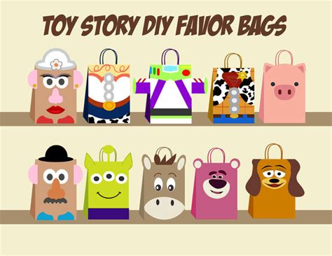 toy story party bag template toy story diy favor bag template toy story by