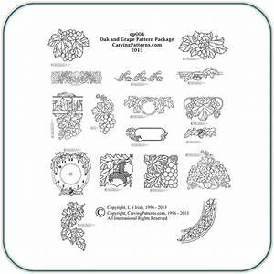 Oak, U0026, Grape, Patterns, U2013, Classic, Carving, Patterns