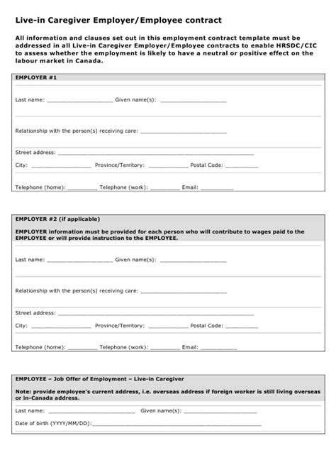 Contract Worker Contract Template | HQ Template Documents