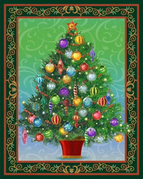 Christmas Tree Shop Curtains by Quilting Treasures Christmas Tree Panel Lighted Project