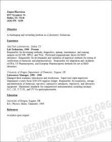 clinical laboratory technician resume sles resume tips objective summary worksheet printables site