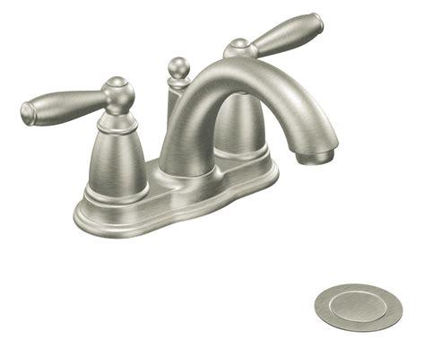 bathroom sink and shower fixtures moen 6610bn brantford two handle low arc centerset