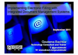 implementing electronic filling with integrated document With integrated document management system