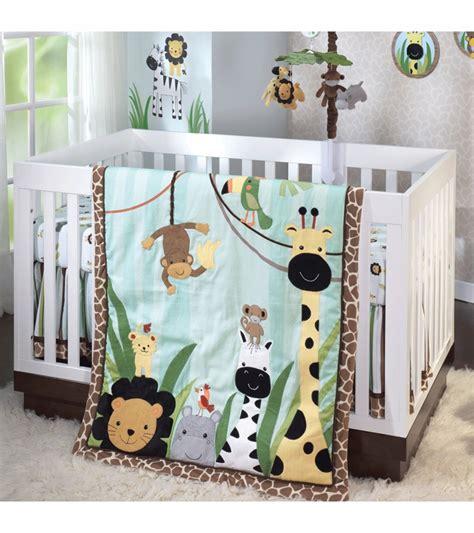 jungle crib bedding lambs peek a boo jungle 5 crib bedding set