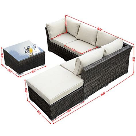giantex 4pc outdoor wicker sectional sofa set