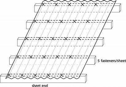 Corrugate Roofing Roof Sheet Dimond Fastener Layout