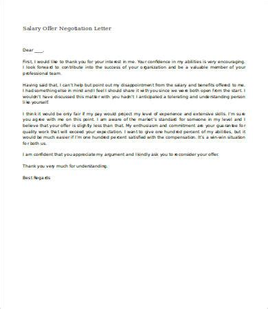letter of negotiation of salary salary negotiation letter 4 free word documents download