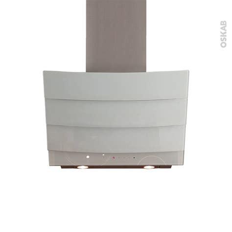 hotte cuisine 90 cm hotte de cuisine aspirante inclinée 90 cm verre blanc
