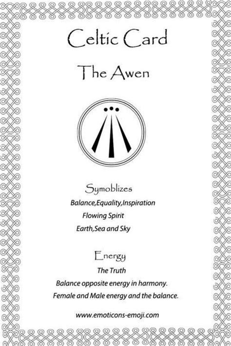 #Tattoo Awen Celtic Card, Click to See More... | Tattoo Symbols | Celtic symbols, meanings