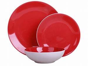 Service De Table 18 Pièces : set vaisselle 18 pi ces candi coloris rouge vente de assiette et service de table conforama ~ Teatrodelosmanantiales.com Idées de Décoration