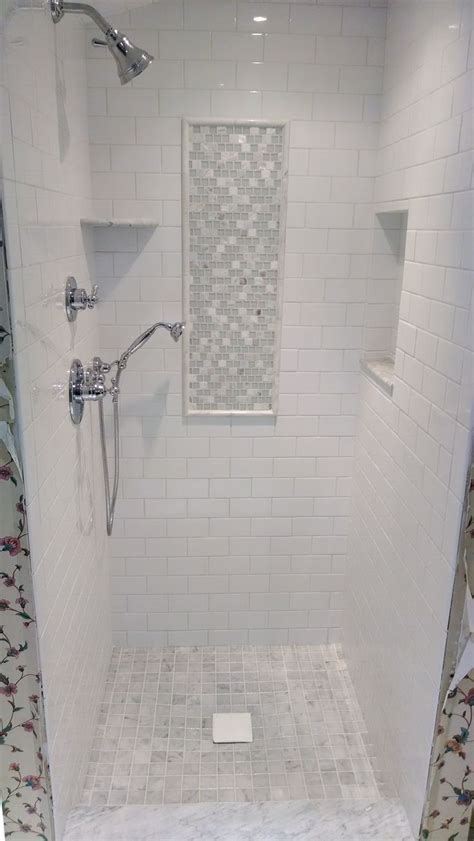white subway marble tile shower google search subway