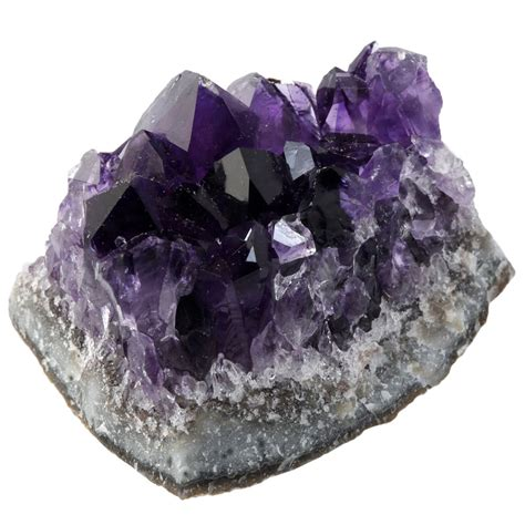 Natural Amethyst Quartz Geode Druzy Stone Cluster Healing