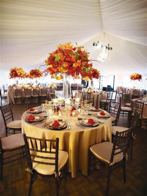 Beautiful fall wedding reception decor Autumn wedding