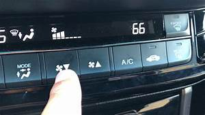 Air Conditioning And Heater System Instructions For Honda