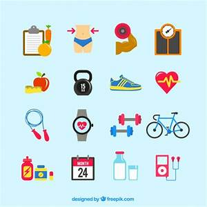 Fitness icons Vector | Free Download