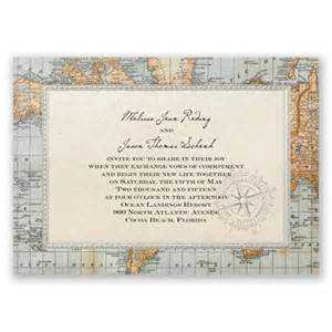 map wedding invitations antique world map wedding invitation nautical wedding invites at invitations by
