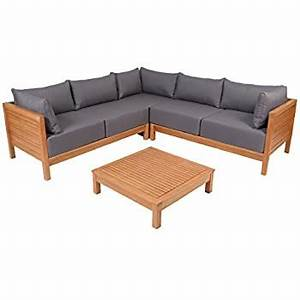 Loungemöbel Holz Outdoor : greemotion 128640 lounge set goa loungem bel aus akazien holz garnitur 3 teilig f r ~ Watch28wear.com Haus und Dekorationen