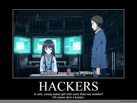 Hacker Memes - hackers anime meme com