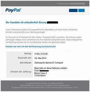 Was Ist Meine Paypal Adresse : phishing mail alerts mai 2014 ~ Buech-reservation.com Haus und Dekorationen