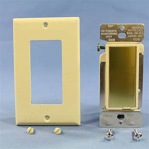 Cooper Ivory Decorator Touch Pad Master Dimmer Switch 600w
