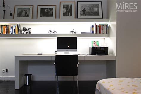 dressing pour chambre chambre bureau en noir et blanc c0750 mires