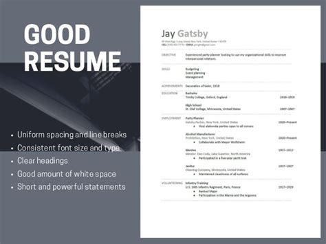 resumes versus bad resumes