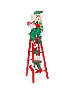 whats the name of zims elf on ladder with lights home accents 174 santa s friends elfs on a ladder decor home accents