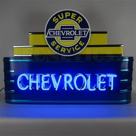 Chevrolet Neon Sign by 39 Quot Wide Marquee Chevrolet Neon Sign In Metal Can