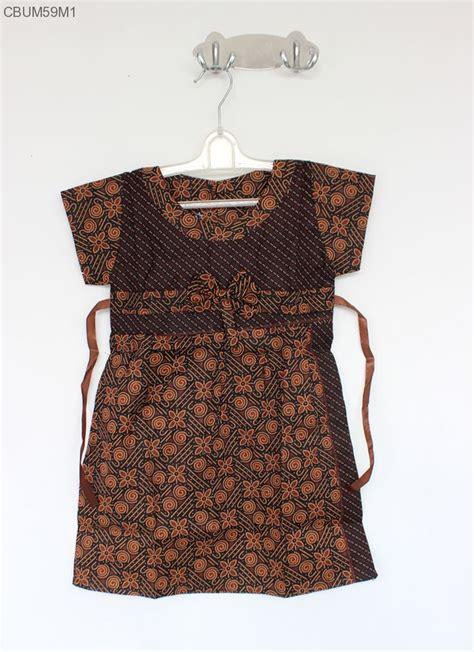 dress batik anak pita cappucino size  dress murah