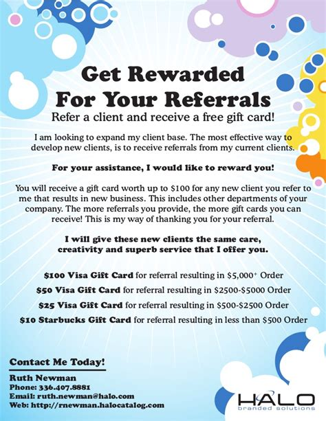 referral flyer gift card