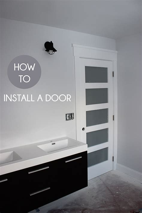 how to hang a door how to install a pre hung door school of decorating by