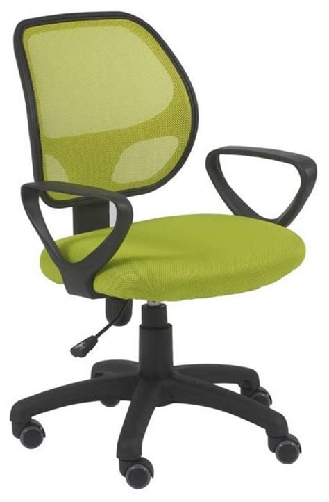 eurostyle percy mesh back office chair w lime green