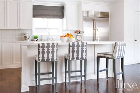 white kitchen stools kitchen with gray counter stools transitional kitchen