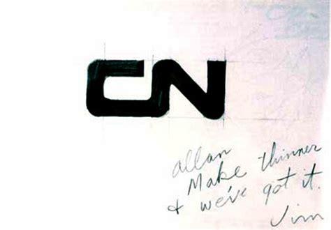 cn logo designed  allan fleming cn brand guidelines