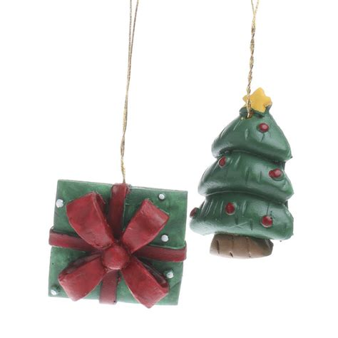 miniature christmas tree  gift box ornaments