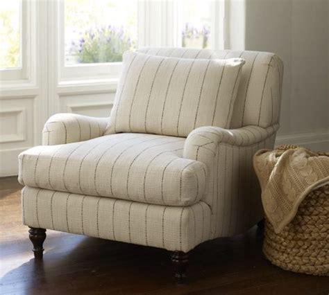 carlisle upholstered armchair pottery barn traditional