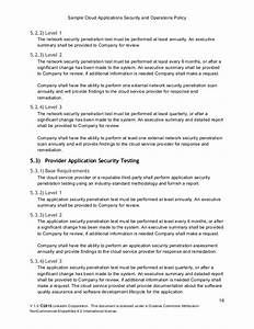 information security policy template sample cloud With sample it security policy document