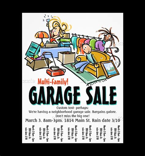 Garage Sale Flyer Template Word by Yard Sale Flyer Template Free